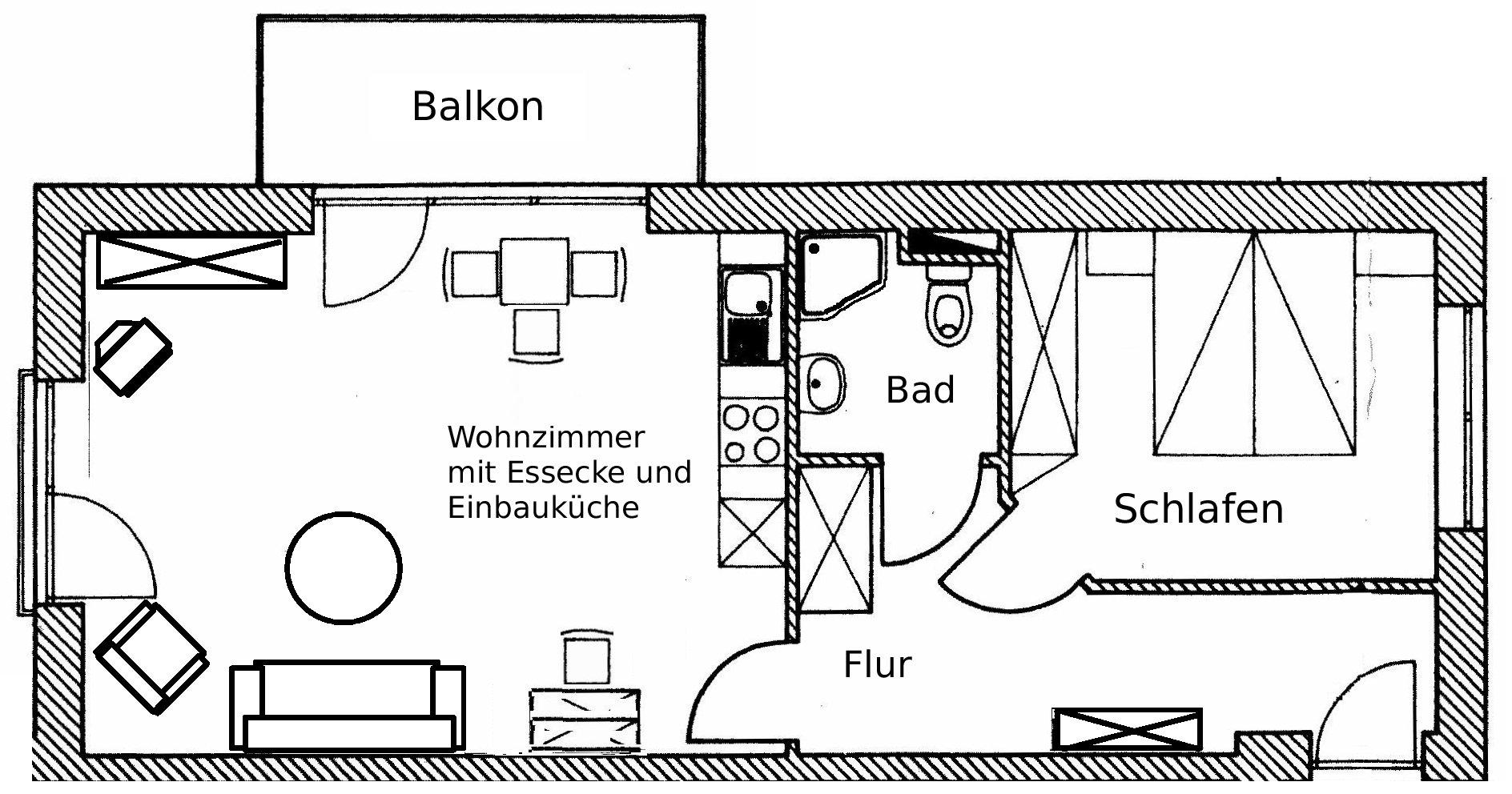 Wohnungsplan  WOHNUNG urlaubsresidenz-niendorf